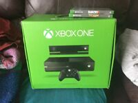 Xbox one 500gb console with kinect camera + 2 games farcry 4 & deadrising 3 £200 no offers