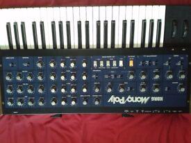 Korg Monopoly Mono/Poly with Midipolis Midipoly MIDI retrofit upgrade