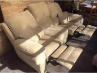 Three seater double recliner. Excellent condition from pet and smoke free home.