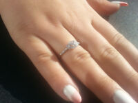 Brand New Ring With 29 Genuine Clean Diamonds 10K Gold SIZE - N Certificate Available.