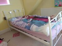 Children's White Metal Single Bed