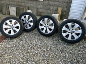 "Insignia 17"" alloy wheels."