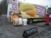 BEST QUALITY POTATOES AT ONLY £5.00 FOR A 25KG BAG OR DELIVERED AT £6.00 A BAG TERIFFIC PRICE,