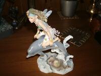 Fairy on Dolphin Figurine