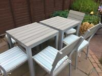 IKEA FALSTER GARDEN TABLE/ CHAIRS/ BENCH AND PARASOL SET