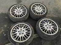 "18"" BMW MV1 Alloys With Good Tyres 5x120"