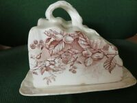 Victorian Cheese Dish Autumnal design
