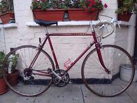 Vintage Dark Red Peugeot Racer bike