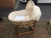 Moses basket good condition