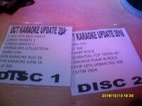 KARAOKE UPDATE DISCS OCT 2016