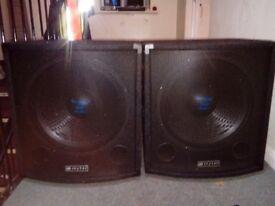 Skytec 300watt 15inch speakers