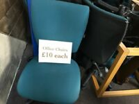 Office Chairs - Big Selection £10 each