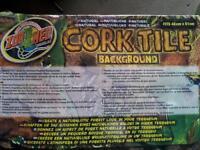 Cork background tiles for vivarium/terrainium
