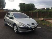 Peugeot 307 1.4 HDI silver diesel £30 tax mot 2004 04 plate
