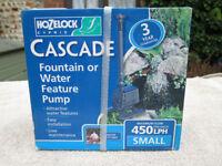 Fountain pump, Hozelock Cascade 450LPH, brand new
