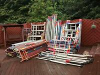 Aluminum scaffolding excellent condition