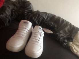Nanny state white trainers
