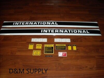 International Ih 1066 Tractor Hood Decal With Caution Set