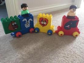 Kids Animal Train Block Set
