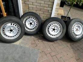 VW TRANSPORTER wheels & tyres & centre caps