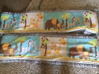 Cot bumpers jungle print breathable