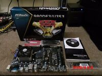 Gaming Asrock 980DE3 U3S3 motherboard + AMD FX6300 6 core CPU + Fan combo