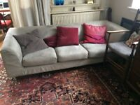 L shaped sofa in two parts. Left hand extension