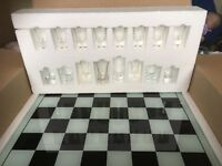 The shot glass chess set