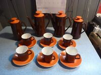 Beswick Retro 1960s coffee/ tea set