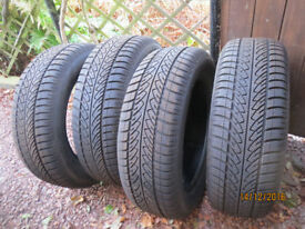 "4 x Goodyear Ultragrip 8 Winter Car Tyres 17"" - 215/60R - barely used"