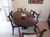 Bargain - Mahogany Dining Table and 8 Chairs - 6' extending to 7'