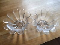 Dartington Crystal Daisy bowls
