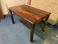 Mahogany stained pine table 1340x800x770
