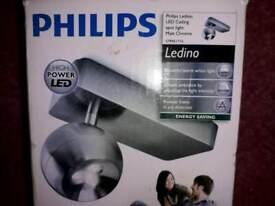 2 x New Philips ledino high power led ceiling spotlight