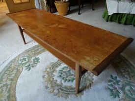 GPlan (?) 1960s Bow Topped Teak Coffee Table