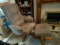 Swivel Chair with Matching Footstool