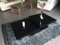 Black gloss coffee table