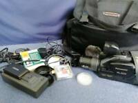 Panasonic G2 VHS C Movie Camera NV-G2 with huge camera case and lots of accessories - Working!!