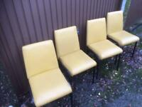 4 x vintage retro kitchen chairs dinning chairs