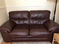 Excellent condition brown leather sofa!