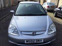 2002 Honda Civic 1.7 i CTDi SE Hatchback 5dr Full Service History @07445775115@ 07725982426@