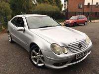 2005 MERCEDES C220 CDI SPORTS EDITION AUTO 150BHP FULL LEATHER INTERIOR ALLOYS CD AC