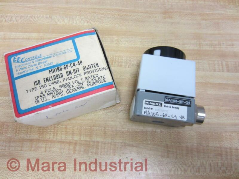 EE Controls MA105-6P-C4-4P AEG Enclosed On/Off Switch Merz