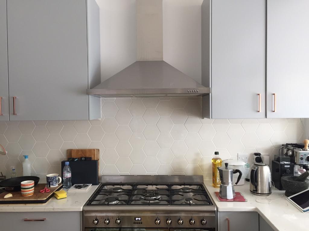 Kitchen Tiles Gumtree bien seramik hexagon matt white 14.2 x 16.4 cm wall/floor tiles