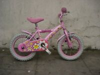 Kids Bike, by Daisy Chain, Pink, 14 inch Wheels, Great for Kids 4 Years, JUST SERVICED/ CHEAP PRICE!