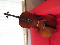 3/4 size cello with soft case