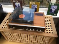 VINTAGE BSR P128 TURNTABLE -COMBERTON 2000 AMPLIFIER - suitable for iPhone / MP3
