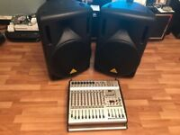 BEHRINGER PA System 2x Speakers 1 x Desktop (less than a year old)