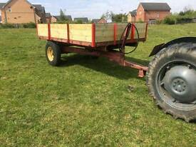Marshall tractor tipping trailer new wooden sides steel floor stables farm etc