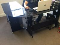 3 Office desks - great condition - MUST GO BY WEEKEND(free chairs & coffee table)